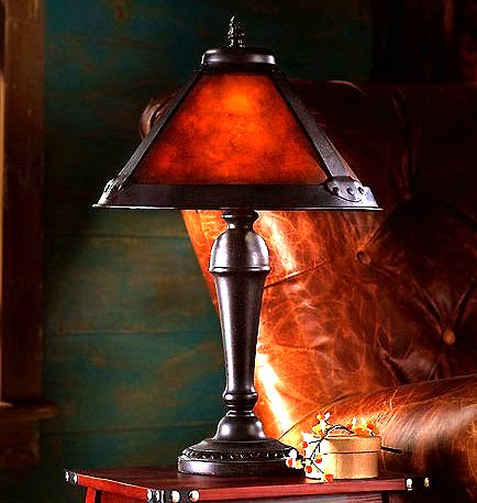 Mission Craftsman Mica Accent Table Lamp. View Images