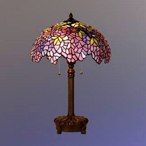 Table lamps mission lamps tiffany lamps stained glass stained glass tiffany wisteria table lamp view images aloadofball Choice Image