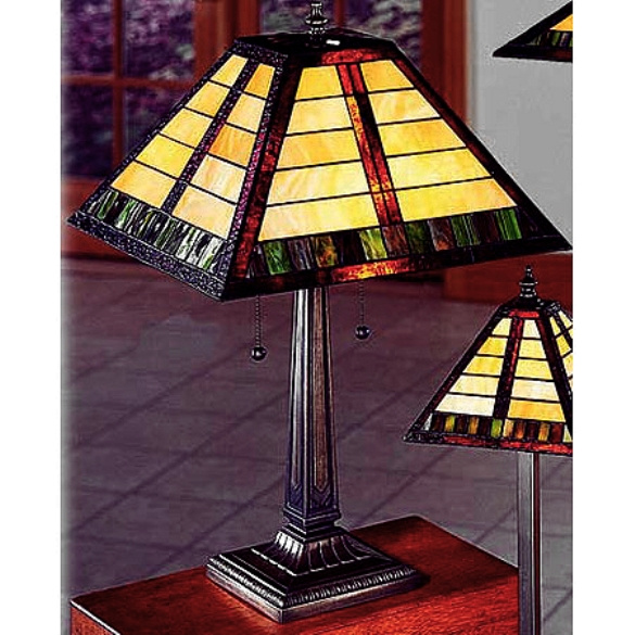 Table lamps mission lamps tiffany lamps stained glass craftsman mission tiffany stained glass table lamp view images aloadofball Choice Image