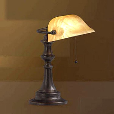 antique lamp lighting: ANTIQUE TIFFANY BANKERS LAMP