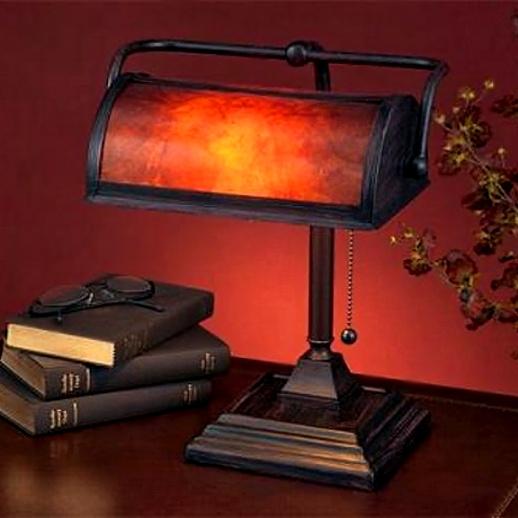 Mica Mission Craftsman Bankers Desk Lamp. View Images