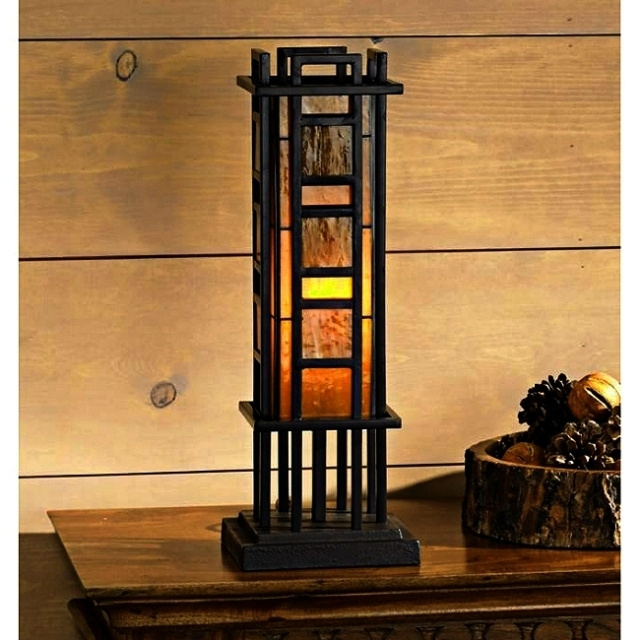 Mission Craftsman Pillar Accent Table Lamp. View Images