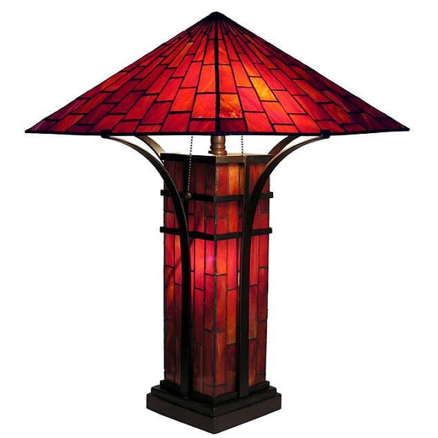 Table lamps mission lamps tiffany lamps stained glass mission tiffany stained glass table lamp view images aloadofball Gallery
