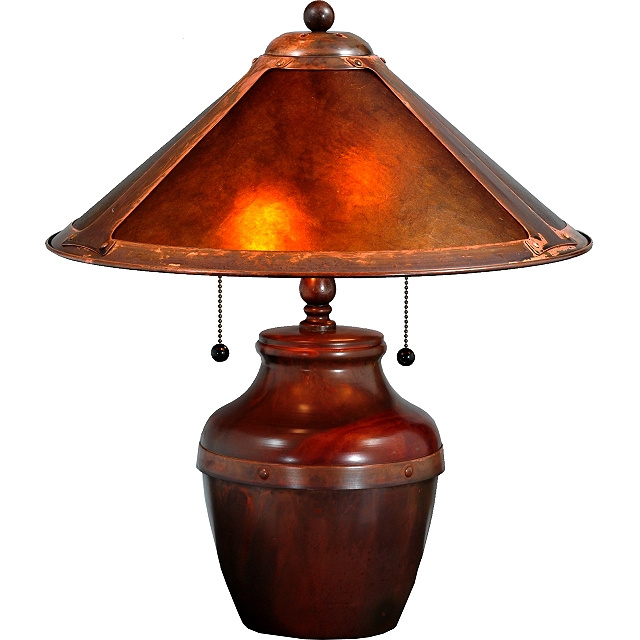 Perfect Mission Copper Mica Table Lamp. View Images