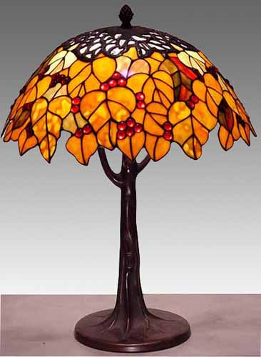 Table Lamps Mission Tiffany Stained Glass