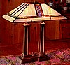 Mission Craftsman Stained Glass Tiffany Desk Lamp