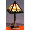 Craftsman Mission Tiffany Stained Glass Accent Lamp