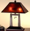 Mission Craftsman Bronze Mica Desk Lamp