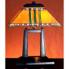 Mission Prairie Tiffany Bronze Dual Post Lamp