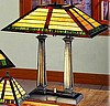 Craftsman Mission Tiffany Stained Glass Desk Lamp
