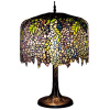 Tiffany Wisteria Stained Glass Table Lamp