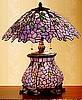 Wisteria Tiffany Stained Glass Table Lamp