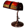Arts & Crafts Stained Glass Bankers Desk Lamp