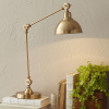 Brushed Brass Pharmacy Arm Desk Lamp